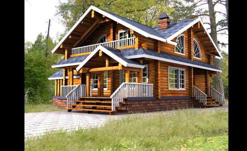casa com madeira dois andares