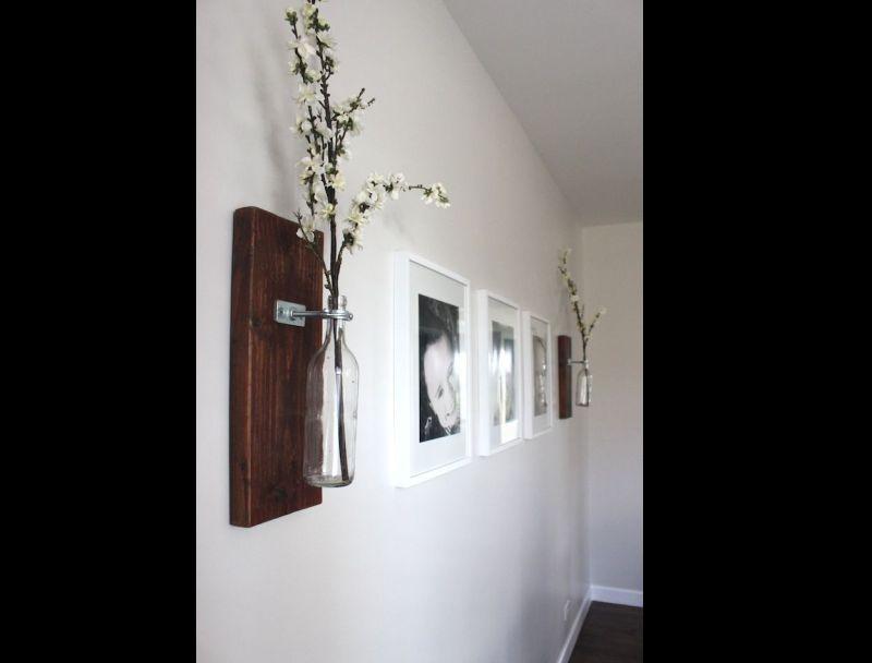 parede decorada com artesanato