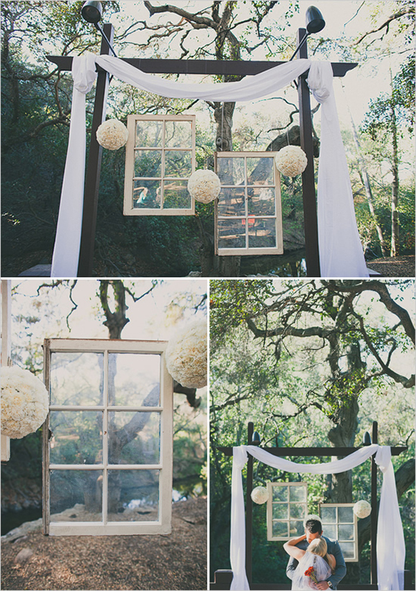 decor casamento com janela