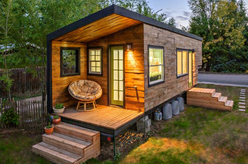 casa com madeira moderna barata
