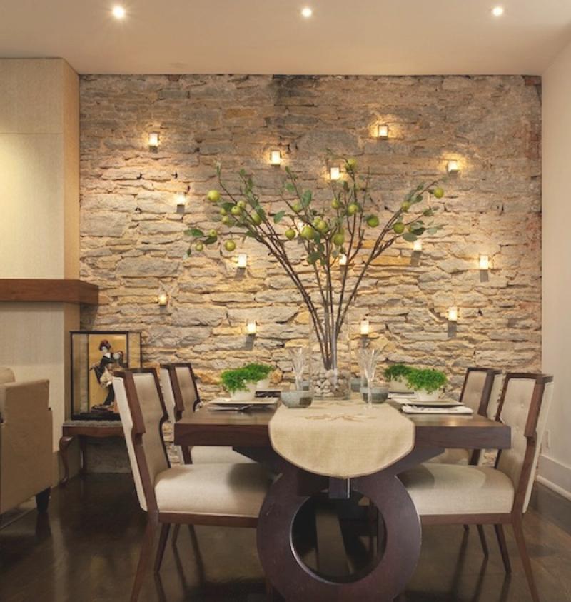 parede decorada com luz