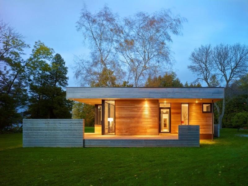 casa com madeira terrea