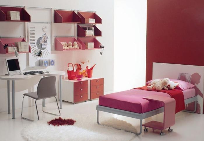quarto de solteiro pink