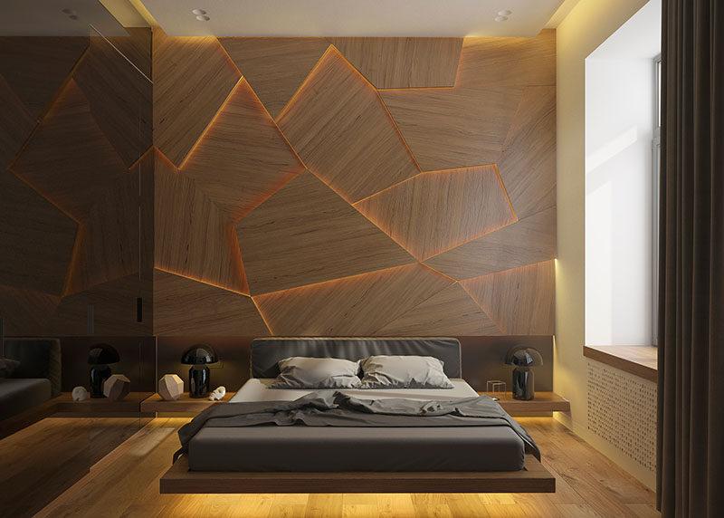 parede decorada no quarto
