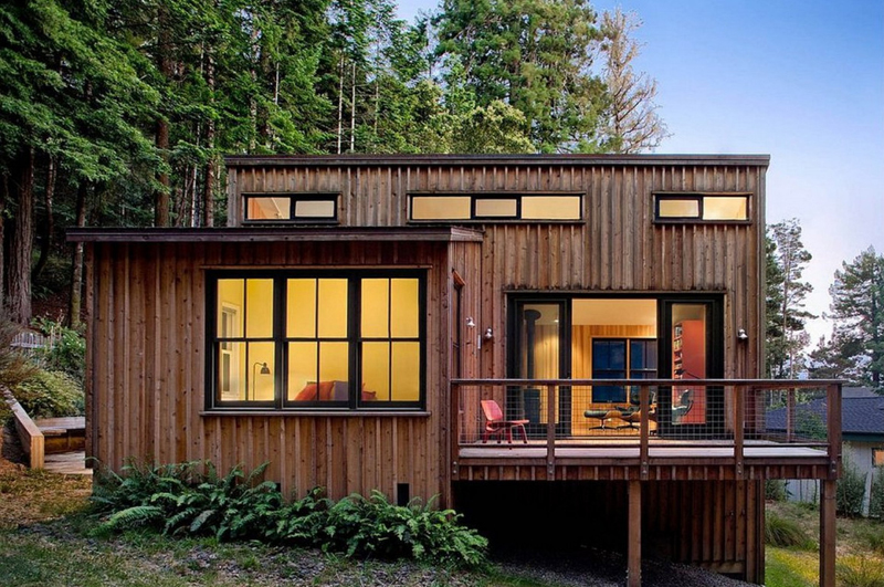 casa com madeira escura