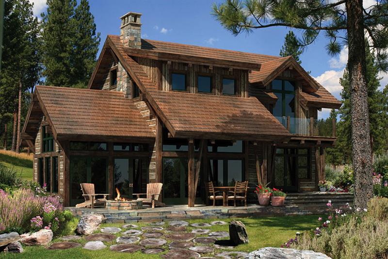 casa com madeira sobria