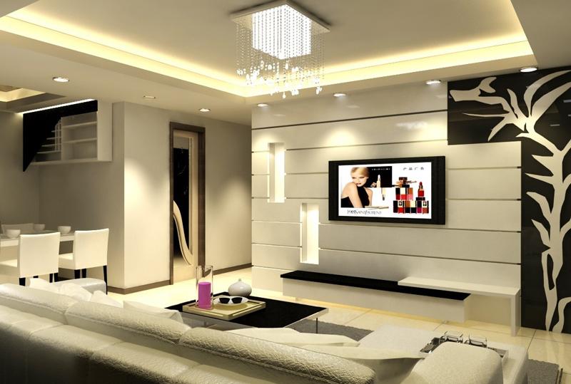 sala de tv minimalista