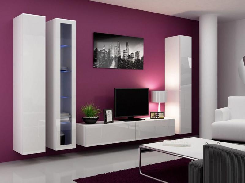 sala de tv roxa