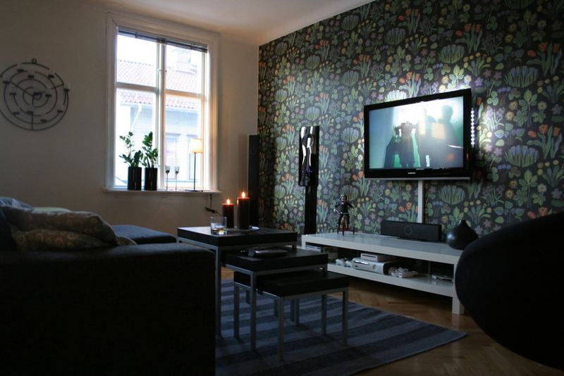 sala de tv decorada