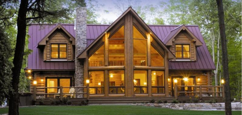 casa com madeira roxa