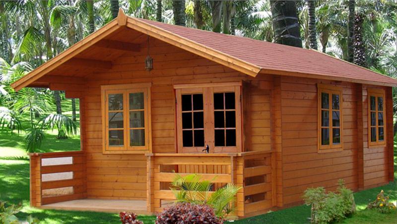 casa com madeira singela