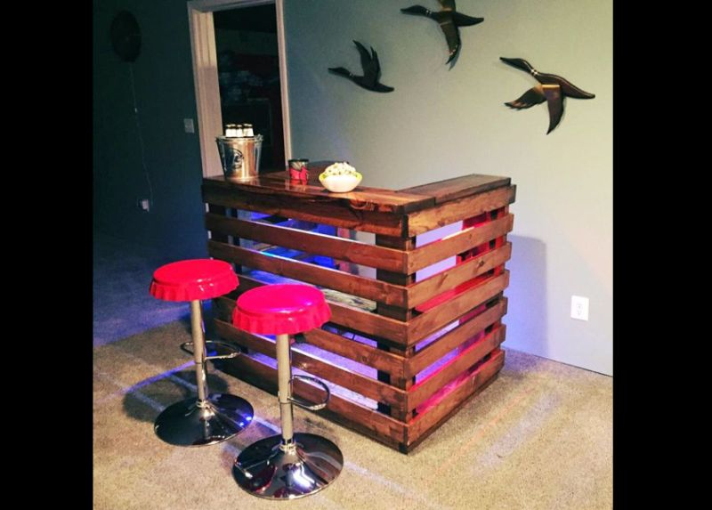 movel de pallet bar