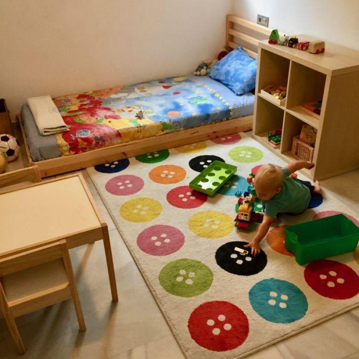 quarto montessoriano tapete