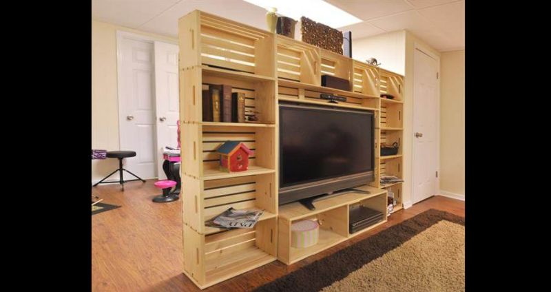 movel de pallet tv