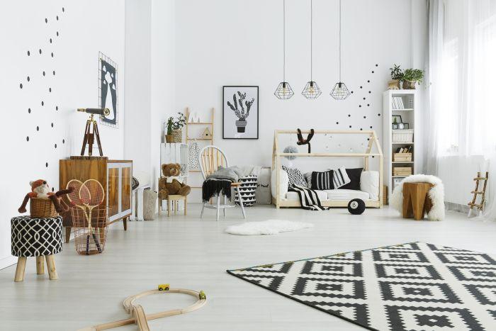 quarto montessoriano preto e branco