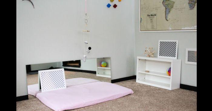 quarto montessoriano rosa
