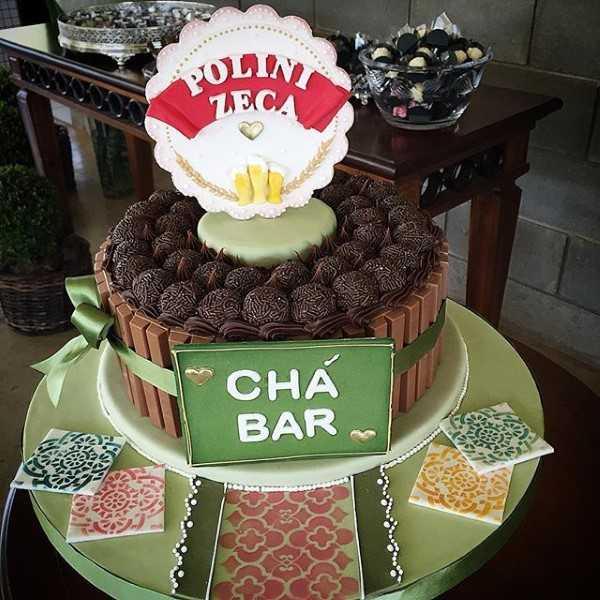 bolo de chocolate para cha bar