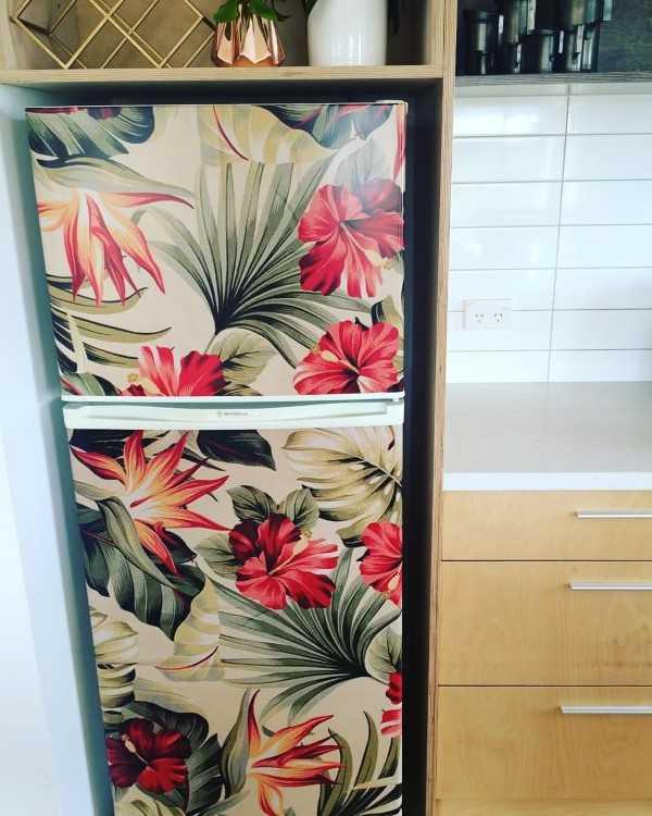 envelopar geladeira floral