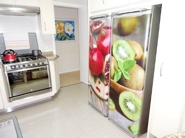 como envelopar geladeira frutas