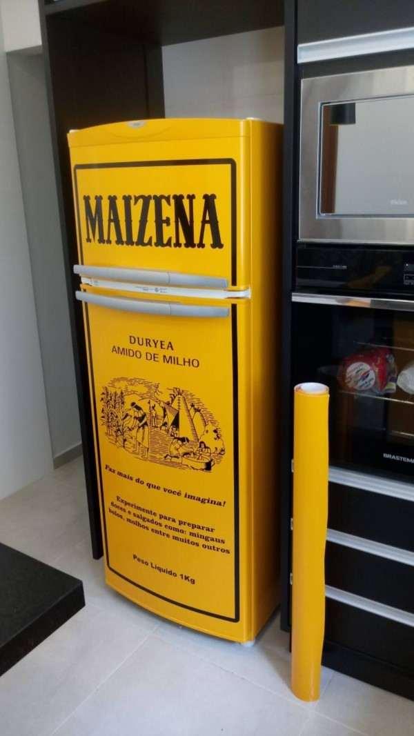 envelopamento de geladeira embalagem maizena