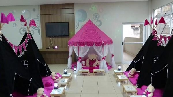 decoração preto e rosa