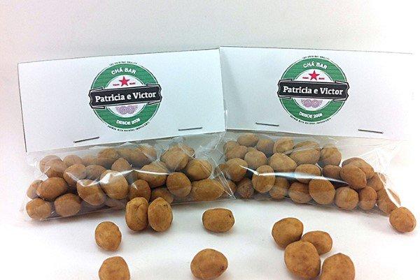 lembrancinha saquinho de amendoim