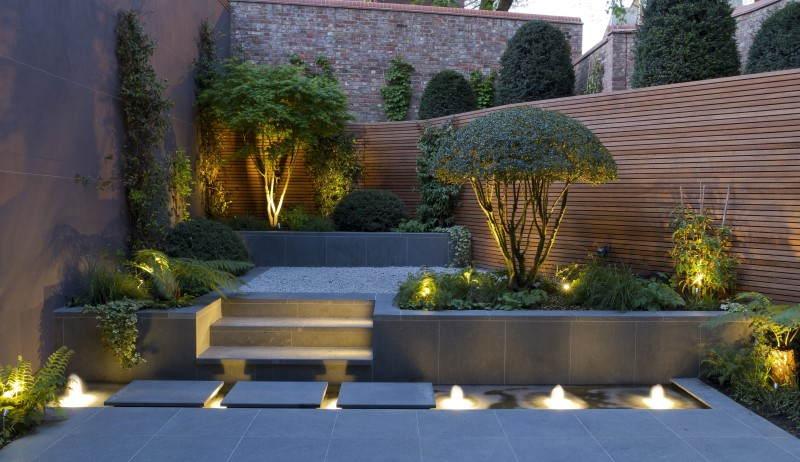 Iluminação simples para jardim