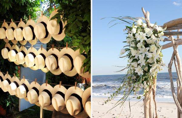 enfeites para casamento na praia