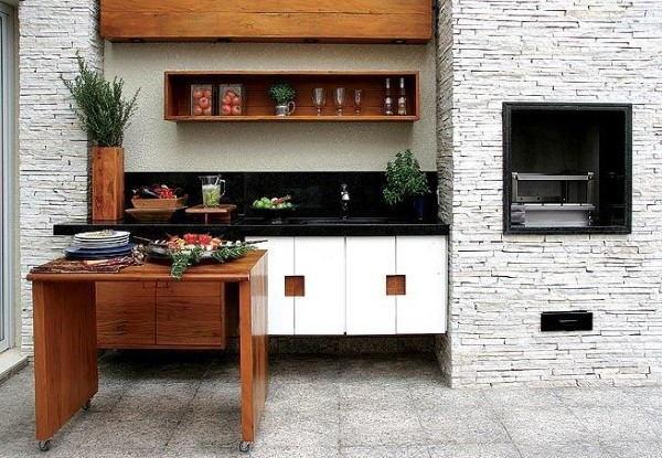 churrasqueiras-modernas espaço gourmet