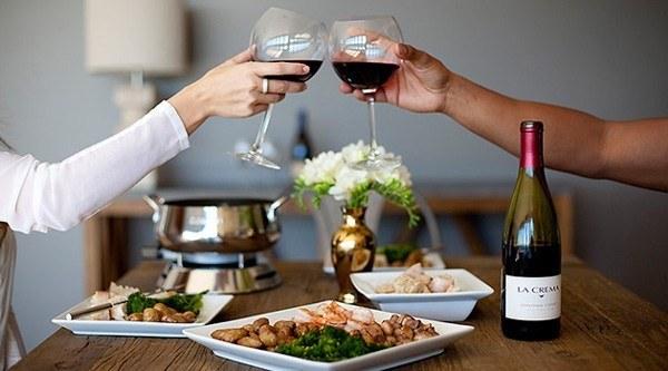 decoração jantar romantico