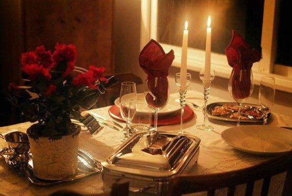 ideias de jantar romantico