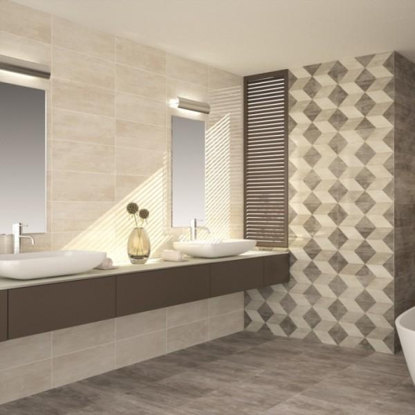 Revestimento claro para banheiro