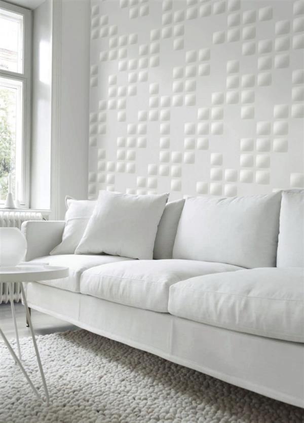 Revestimento branco na decoração