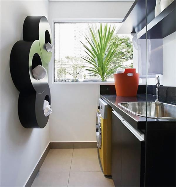 lavanderia com bancada de granito
