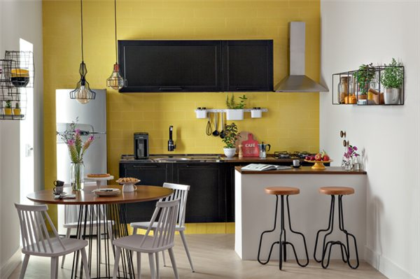 amarelo na cozinha