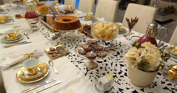 mesa para o café da tarde