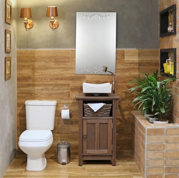 bancada pequena de banheiro