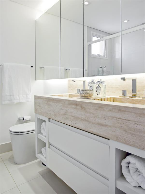 banheiro pequeno bancada