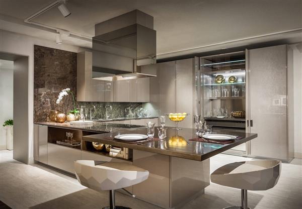 cozinha de luxo com ilha