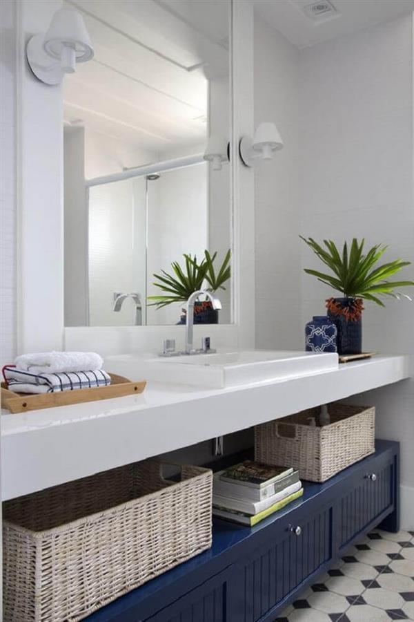 decoração-de-banheiro-com-bancada