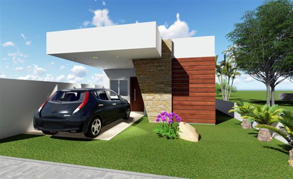 modelos de casas pequenas com garagem