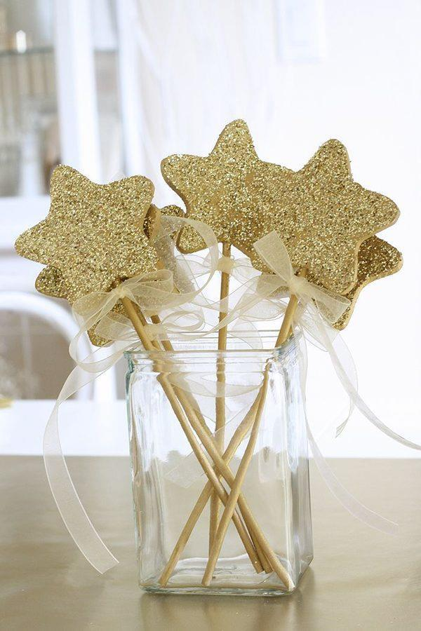 decoração com estrelas ano novo