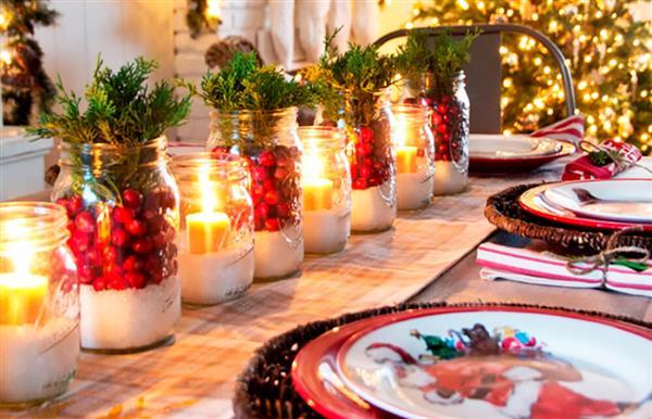decorar mesa de natal