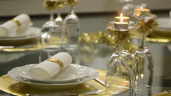 prato decorado ano novo