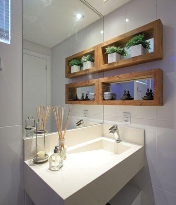 Nicho Para Banheiro Curitiba : Banheiros decorados com nichos de madeira fotoss? decor