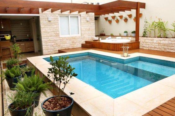 Decora o de rea externa com churrasqueira e piscina for Piscina e maschile o femminile