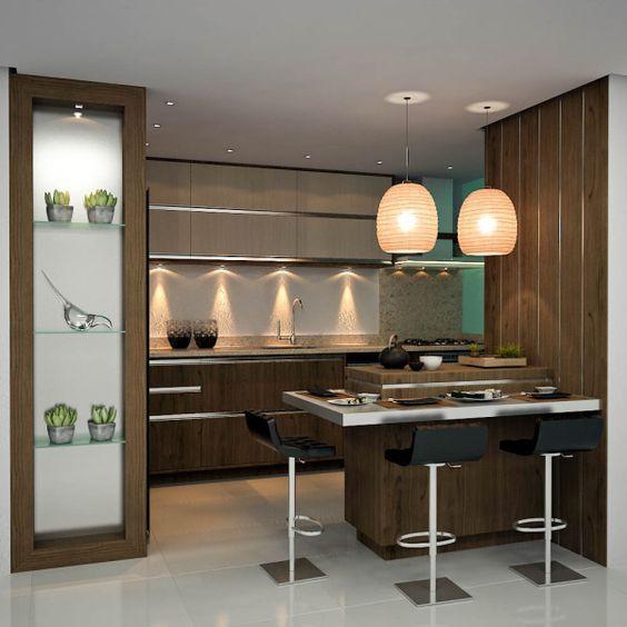 Decora o de cozinha americana pequena e simples fotoss for Simulador de muebles de cocina
