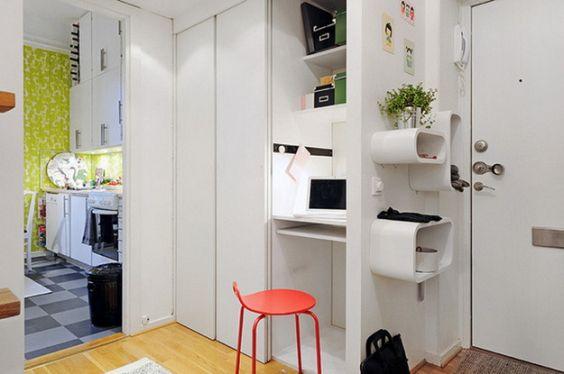 Decora o de escrit rio em apartamento pequeno fotos for Como organizar un apartamento muy pequeno