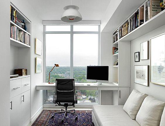 Decoraç u00e3o de Escritório em Apartamento Pequeno Fotos -> Decoração De Escritório Residencial