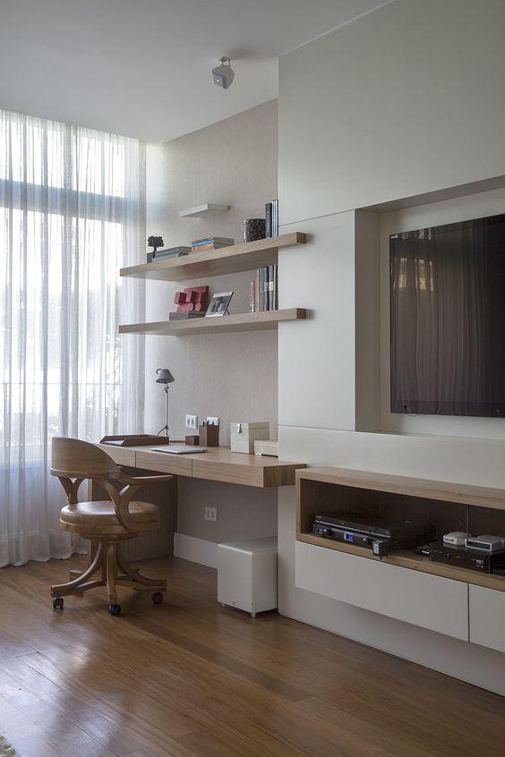 Decora o de escrit rio em apartamento pequeno fotoss decor for Idea decorativa sala de estar pequeno espacio